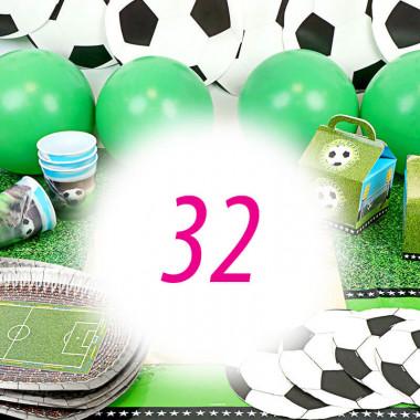 Partyset Fussball für 32 Personen - ohne Torte