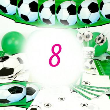 Partyset Fussball für 8 Personen - ohne Torte
