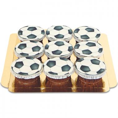 Fußball-Cupcakes, 9 Stück