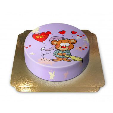 Teddybär Love Torte