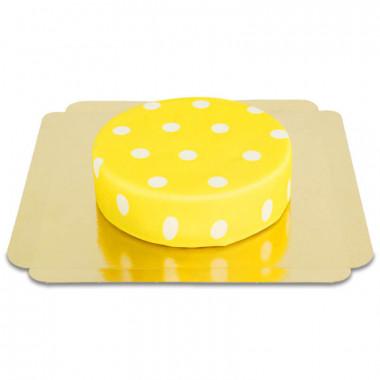 Gelb mit weißen Punkten