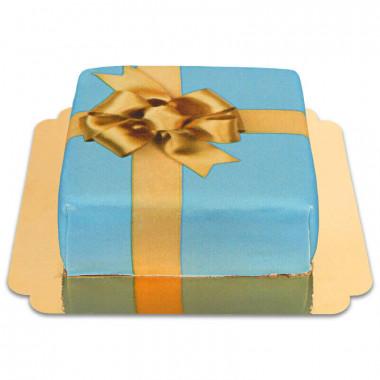 Geschenk-Torte blau