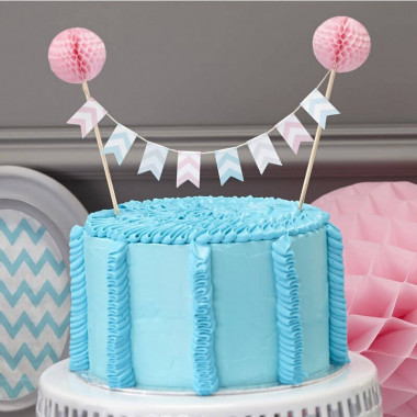 Cake Topper Pastell Wimpel