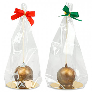 Goldene Deluxe Cake-Pops (10 Stück) - Weihnachtsedition
