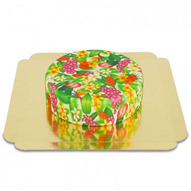 Grüne Tropenblumen-Torte