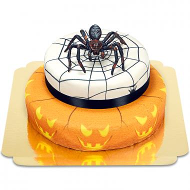 Spinne auf 2-stöckiger Halloweentorte