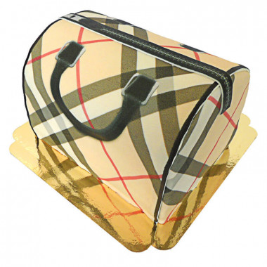 Handtaschen-Torte mit Muster, Beige