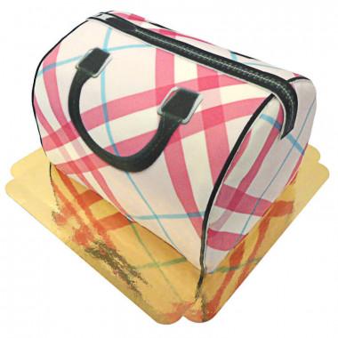 Handtaschen-Torte mit Muster, Pink