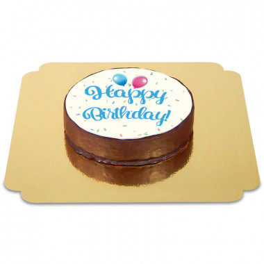 Happy Birthday Sachertorte BLAU