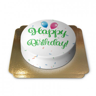 Happy Birthday Torte GRÜN