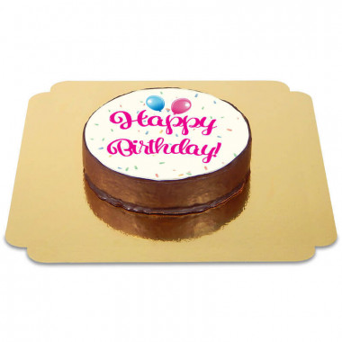 Happy Birthday Sachertorte PINK