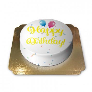 Happy Birthday Torte GELB