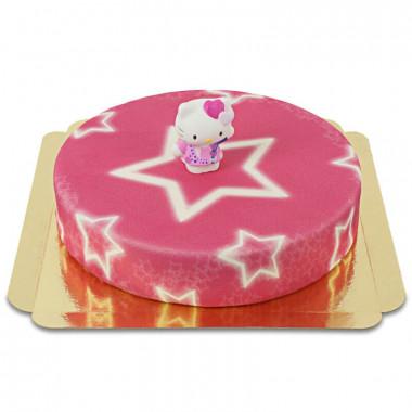 Hello Kitty auf Sternen-Torte