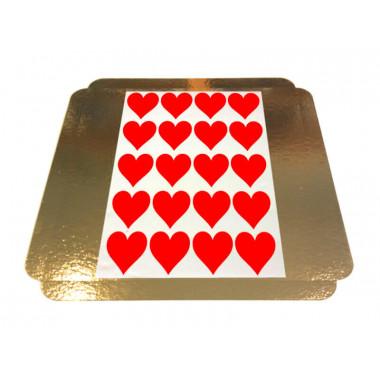 Törtchenaufleger Herzen - 5 x 5 cm