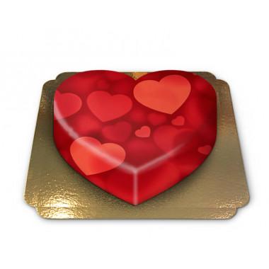 Herzen-Torte in Herzform