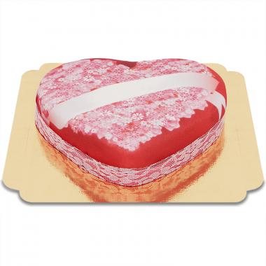 Liebesbotschafts-Torte in Herzform