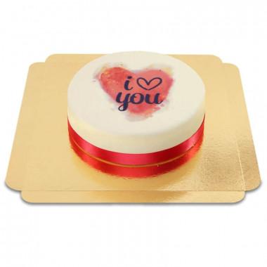 I love you Aquarellherz-Torte