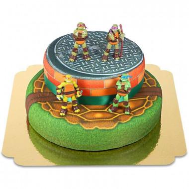 Ninja Turtles auf zweistöckiger Torte