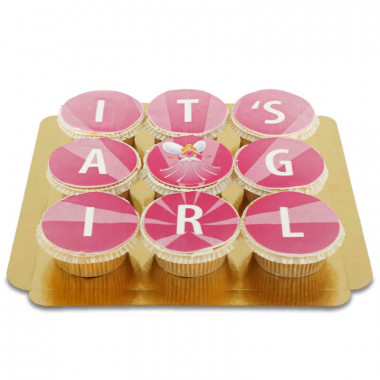 It's a girl Cupcakes, 9 Stück