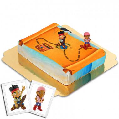 Die Piraten Jake & Izzy auf Nimmerland-Torte