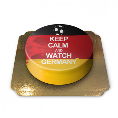 Keep Calm and Watch Germany-Torte