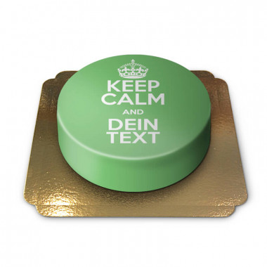 """""""Keep Calm and..""""-Torte, grün"""