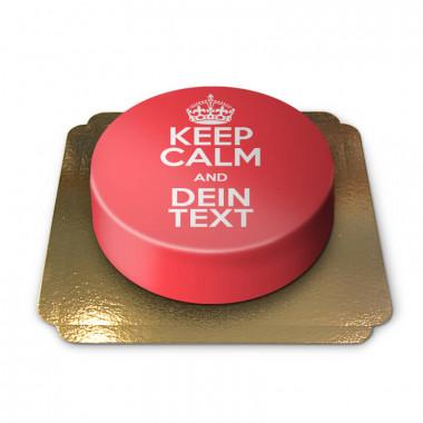 """Keep Calm and..""-Torte, rot"