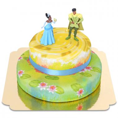 Küss den Frosch auf 2-stöckiger Teich-Torte