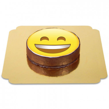 Emoticon Sachertorte Lachen