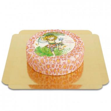 Prinzessin Lillifee-Torte mit Leoparden-Muster