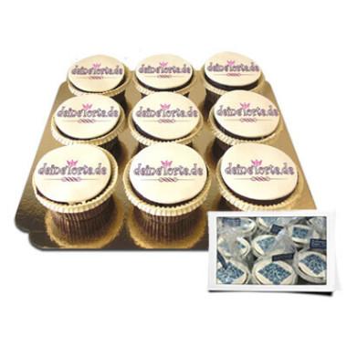 Logo-Cupcakes - einzeln verpackt
