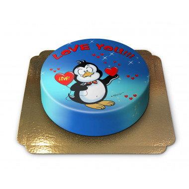 Love you Pinguin Torte