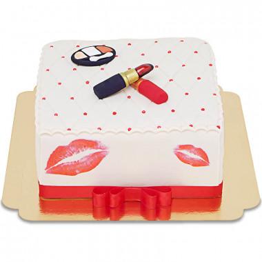 Deluxe Make-Up Torte, Eckig doppelte Höhe