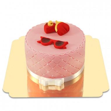 Deluxe Make-Up Torte mit roter Sommer Deko