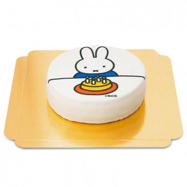 Weiße Miffy Geburtstags-Torte