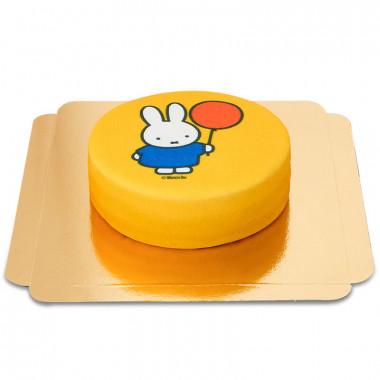 Gelbe Miffy mit Luftballon Torte