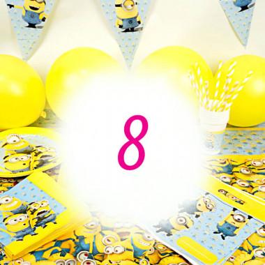 Partyset Minions für 8 Kinder - nur Deko, ohne Torte