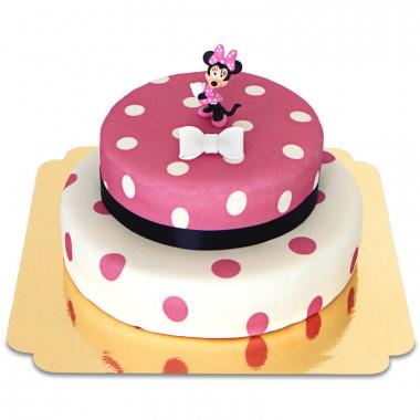 Minnie Maus auf 2-stöckiger Punkte-Torte