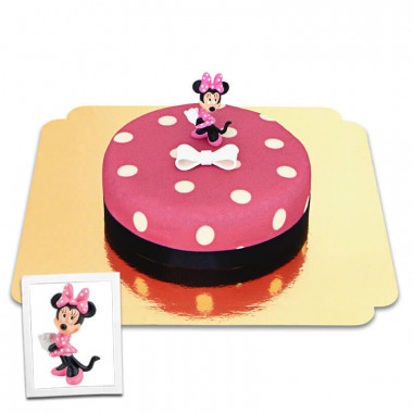 Minnie Maus auf Punkte-Torte mit Band