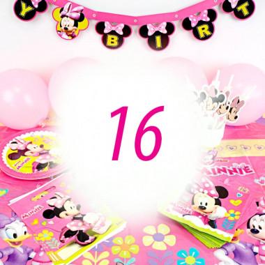 Partyset Minnie Maus für 16 Personen - ohne Torte