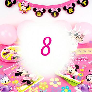Partyset Minnie Maus für 8 Personen - ohne Torte