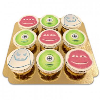 Monster-Cupcakes, 9 Stück