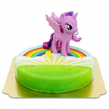 My little Pony Twilight Sparkle auf Regenbogentorte