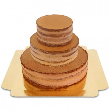 Schokoladiger Naked Cake dreistöckig