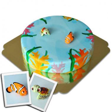 Nemo & Squirt auf Meerestorte