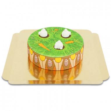 Hasen auf Blumentopf-Torte