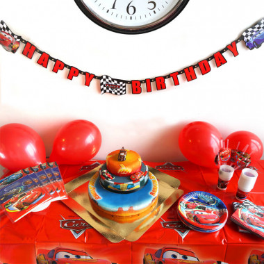Partyset Cars - inkl. Torte