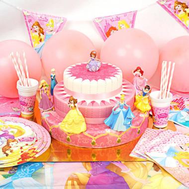 Partyset Prinzessinnen - inkl. Torte