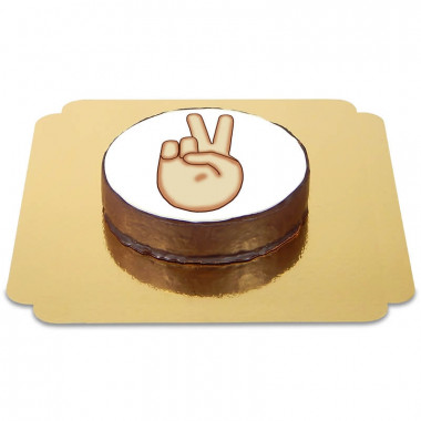 Emoticon Sachertorte Peace
