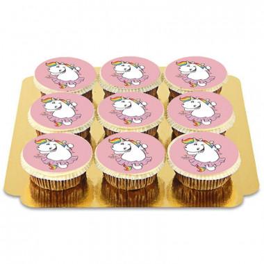 9 Rosa Pummeleinhorn Cupcakes